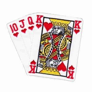 Hearts Suit Iron On Poker Patch Applique