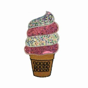 Desserts - Sparkling Ice Cream Cone Iron On Applique