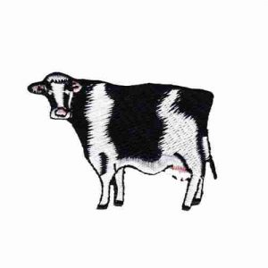 Cows - Traditional Black and White Cow Farm Animal Iron on Patch