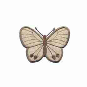 Butterflies - Tan Twill Butterfly Iron on Patch