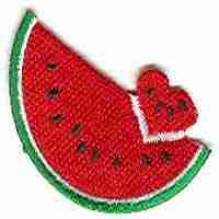 Fruit - Watermelons - Small Watermelon w/Heart Shaped Slice