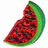 Fruit - Watermelons - Sequined Watermelon Slice Iron On Patch Ap