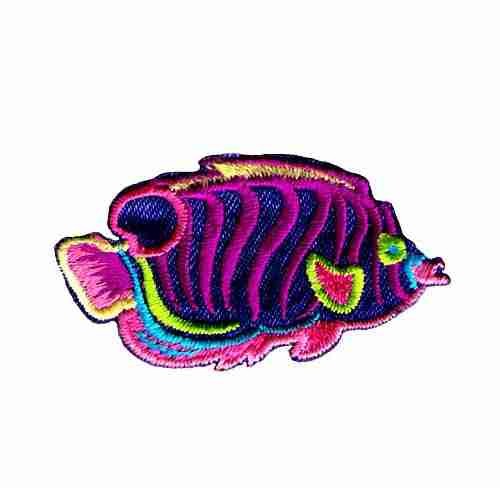 Tropical Fish Iron On Sea Life Patch Applique