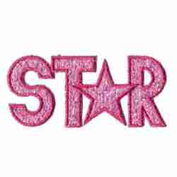 "Sparkle ""Star"" Applique in Pink"