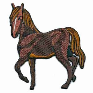 Horses - Trotting horse Iron on patch applique