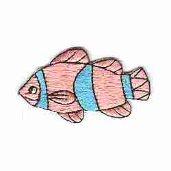 Pink Clownfish Iron On Marine Applique