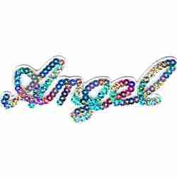 Sequined 'ANGEL' Iron On Applique