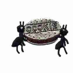 Ants with Cookie Iron-on Insect Patch Applique