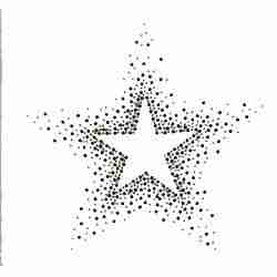 "Stars - Large 7.5"" Colored Rhinestone Starburst Star Iron On App"