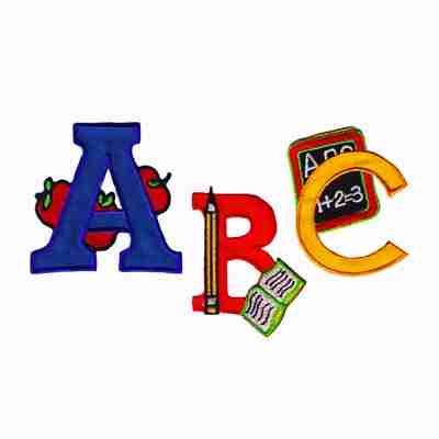 """Letters for Education """"A, B or C"""" Patch Appliques - Sold Separat"""