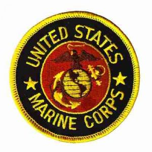 U.S. Marine Corps Iron On Military Patch