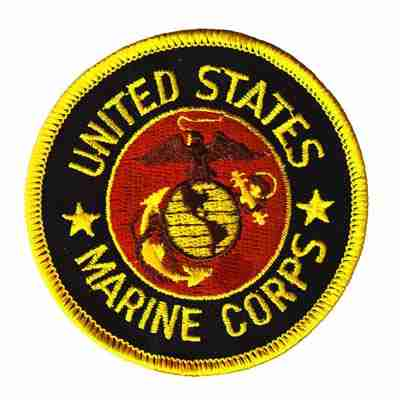 U.S. Marine Corps Iron On Military Patch