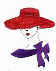 Red Hat Lady Applique