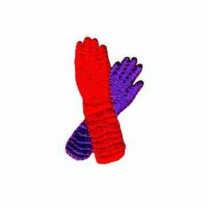 Red Hat Gloves Iron On Applique