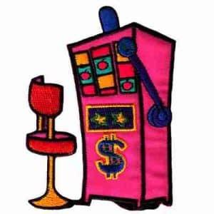 Slot Machine Station Iron On Gambling Patch