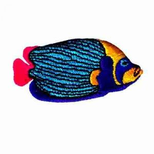 Fish - Brightly Colored Emperor Angelfish Iron On Applique