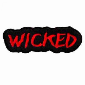 """WICKED"" Iron On Namedrop Patch Applique"