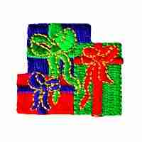 Christmas Presents Iron On Holiday Patch Applique