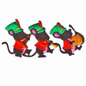 Christmas Mice Iron On Holiday Applique
