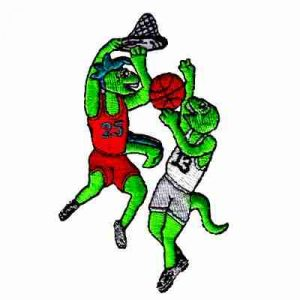 Basketball - Lizards in the Game Iron On Sports Patch Applique