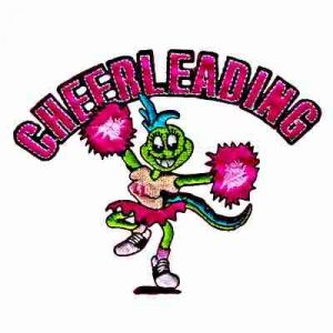 CHEERLEADING Lizard Iron On Patch Applique