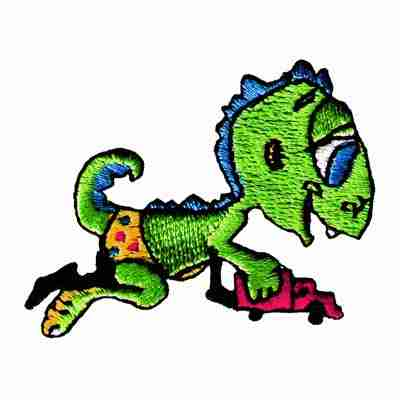 BABY PLAYING Lizard Iron On Patch Applique
