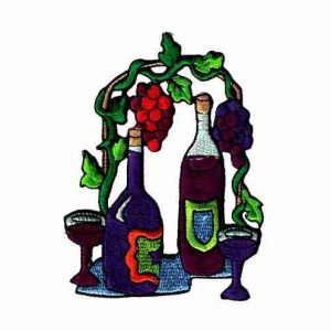 Spirits - Wine Setting Iron On Applique