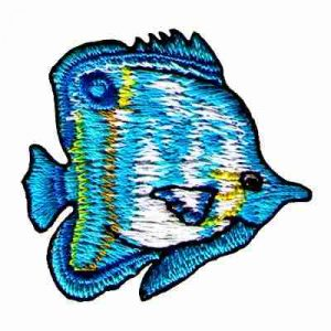 Fish - Blue Butterfly Fish Iron On Sealife Patch Applique