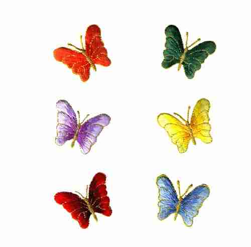 Butterflies - Small Decorative Iron On Patch Applique -Sold Sepa