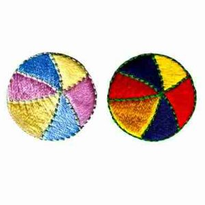 Beach Balls in Pastel OR Primary colors Iron On Patch Applique