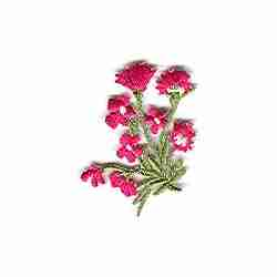 Pink Bunches of Wildflowers Iron on Patch Applique