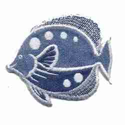 Fish - Denim Iron On Fish Patch Applique