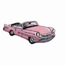 Cars - 50's Pink Cadillac Iron-on Patch Applique