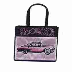 Purses - Lost in the 50's Shopping Bag Iron on Patch Applique