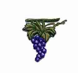 Fruit - Grapes - Cluster of Grapes Iron On Applique