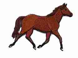 Horses - Trotting Horse Iron On Equestrian Patch Applique