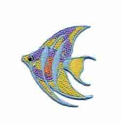 Fish - Crocheted Angel Fish Iron On Sealife Patch Applique