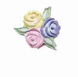 Pastel Rose Bud Cluster Iron On Floral Applique