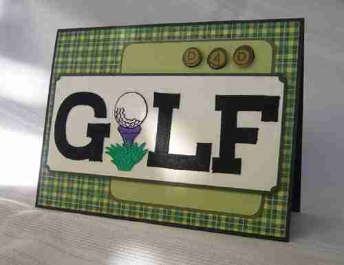 Golf - Ball on Tee Iron On Patch Applique Example Uses