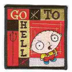 Family Guy Stewie Iron on Patch