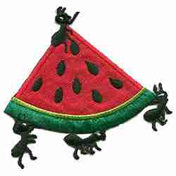 Ants with Watermelon Slice Iron On Applique