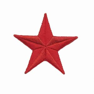 2.5 Inch Red Star patches Iron On Appliques