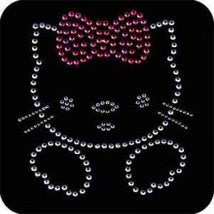 Cats - Hello Kitty Rhinestud Iron On Applique
