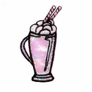 Desserts - Embroidered Ice Cream Soda Iron On 50's Iron on Patch