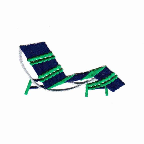 Beach Chair Iron On Applique