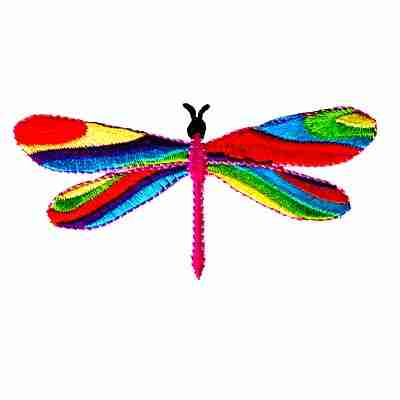 Dragonflies - Long Winged 60's Multi-Colored Dragonfly Applique