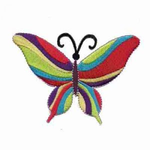 Butterflies - 60's Multi-Colored Butterfly Iron On Applique