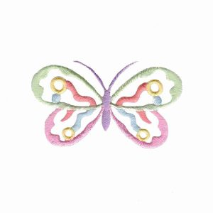 Butterflies - Cut Out Pastel Butterfly Iron On Patch Applique