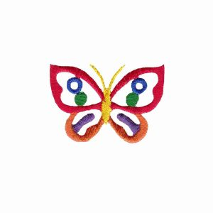 Butterflies - Tiny Bright Cut-Out Butterfly Iron on Patch