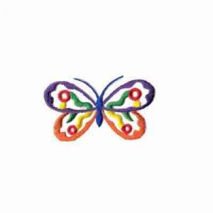 Butterflies - Bright Colored Cut Out Butterfly Iron on Patch App